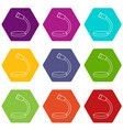 table microphone icons set 9 vector image vector image