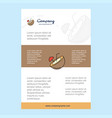 template layout for coconut comany profile annual vector image vector image