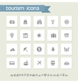 Tourism icon set Simple flat buttons vector image vector image
