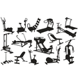trainer silhouettes vector image vector image