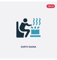 two color earth sauna icon from sauna concept vector image vector image