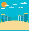 urban landscape flat design vector image