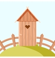 Villiage wooden toilet vector image