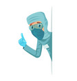 virologist doctor character protective medical vector image