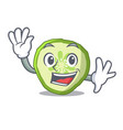 waving sliced cucumber hamburger ingredient vector image