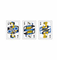 with the greek playing cards vector image