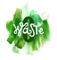 zero waste lettering vector image