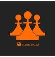 Three orange pieces vector image
