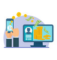 mobile payment computer vector image