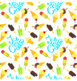 flat style colorful seamless pattern with various vector image