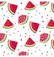watermelon slices pattern summer fresh vector image