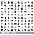 100 t-shirt icons set simple style vector image vector image