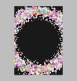 abstract blank confetti ring brochure background vector image vector image