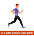 Aerobic icons full color 35 vector image vector image
