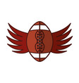 american football balloon with wings icon vector image vector image