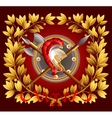 Antique arms and a laurel wreath vector image vector image
