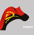 background with angola wavy flag vector image