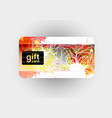 Beautiful gift card vector image vector image
