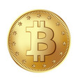bitcoin golden coin money and finance symbol vector image