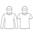 Blank t-shirts and caps template vector image vector image