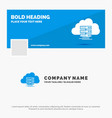 blue business logo template for cloud storage vector image