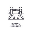 boxing sparring line icon outline sign linear vector image