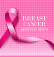 breast cancer awareness pink ribbons vector image vector image