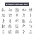 building contractors line icons signs set vector image vector image