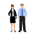 businessmen woman and man vector image vector image