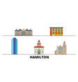 canada hamilton flat landmarks vector image vector image