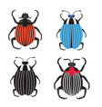 colorado potato beetle icons in flat design vector image