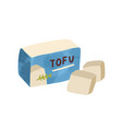 composition sliced tofu vegan organic soy vector image