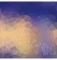 Crystals background vector image