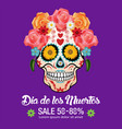 day of dead traditional sale background vector image vector image