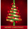 decorative paper christmas tree vector image