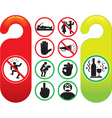 do not disturb signs set vector image vector image