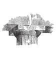 echinus molding a capital of the parthenon vector image vector image