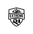 extreme emblem with snowboarder design element vector image vector image