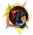 fit young woman in sportswear vector image vector image
