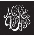 Hand written grunge inscription Merry Christmas vector image vector image