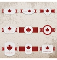 Happy Canada Day paper Banners with greeting Text vector image vector image