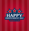 Happy Independent day badge and labels vector image vector image