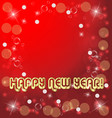 happy new years card on red background vector image