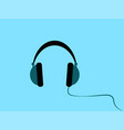 headphones on white background vector image vector image