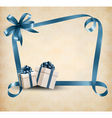 holiday background with gift ribbon with gift box