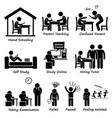 homeschooling home school education stick figure vector image vector image