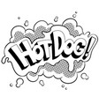 hot dog word comic book coloring vector image