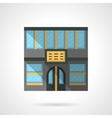 Hotel facade flat color design icon vector image