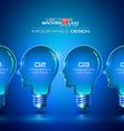 Human Head Light Bulbs Infographics Design vector image