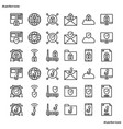 internet security outline icons perfect pixel vector image